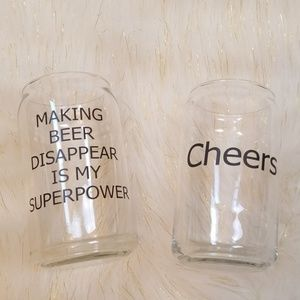 Making beer disappear is my super power glasses